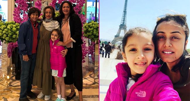 "Pics: Mahesh Babu enjoys success of movie ""Bharat Ane Nenu"" with family in Paris"