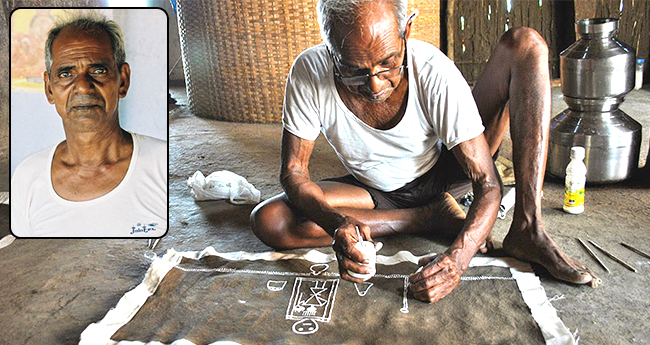 Well-known Warli Artist Jivya Mashe dies at 84; last rites performed with State honors