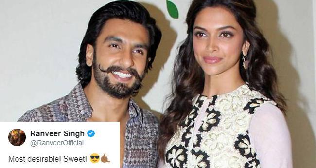 Deepika Padukone And Ranveer Singh's Twitter Talk Is Full Of Love