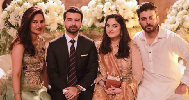 Pic: Fawad Khan And Wife Sadaf Khan Look Picture Perfect At His Sister's Engagement