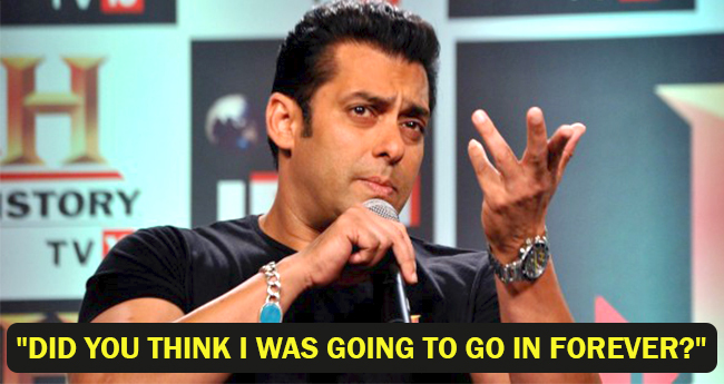 'Did You Think I Was Going To Go In Forever?' Salman Khan on Blackbuck Case