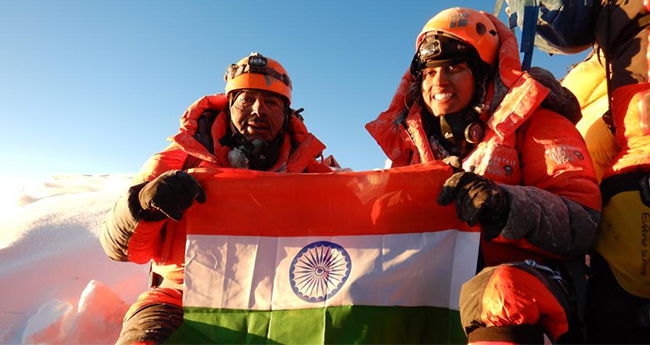 First ever Indian Father-Daughter duo to climb the highest peak Mt. Everest