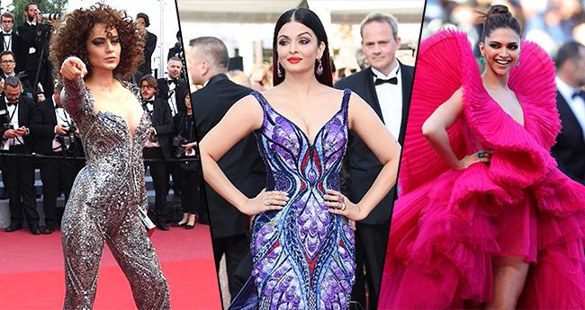Pics: Bollywood Divas Aishwarya, Deepika, Sonam And Kangana Owned The Cannes Red Carpet