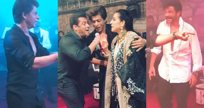 Pics and Videos: Sonam and Anand's reception; Salman and Shah Rukh dance while Mika sings