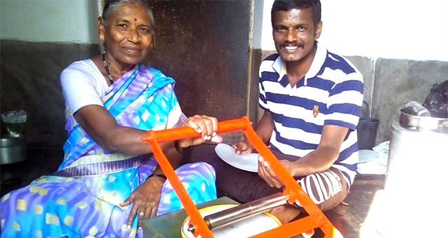 41-YO Bommai from Karnataka village creates a roti-maker that makes 180 rotis in 60 mins