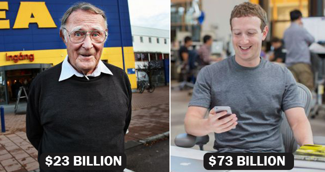 10 Wealthiest People Who Does Not Believe In Living Life King Size