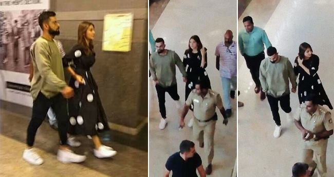 Pics: Anushka And Virat Spotted Along With The Whole Team To Watch Avengers