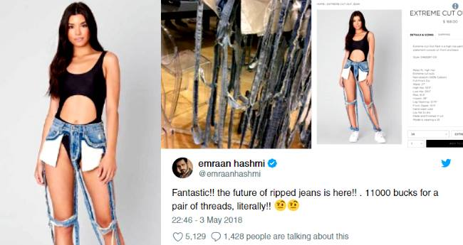 """Here's how Twitterati's are reacting to """"Extreme Cut-Out"""" Jeans and we totally agree why they exist"""