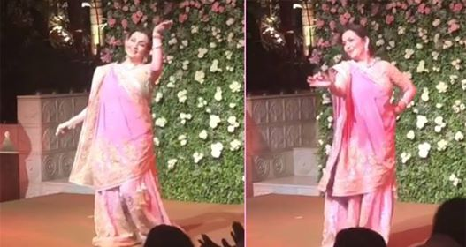 Video: Nita Ambani dancing for daughter Isha Ambani's close-knit engagement party at Anitila