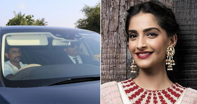 First Pics: Bride-To-Be Sonam Kapoor's Car Arrive At The Wedding Venue