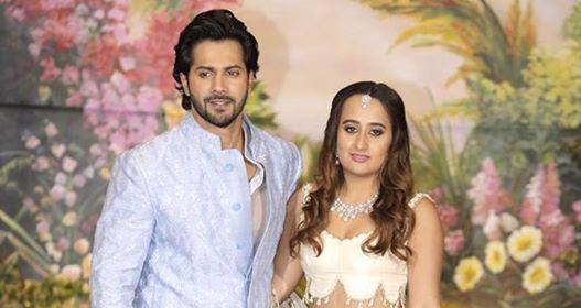 Varun Dhawan And Girlfriend Natasha Dalal Make A Couple Entry At Sonam Kapoor's Reception