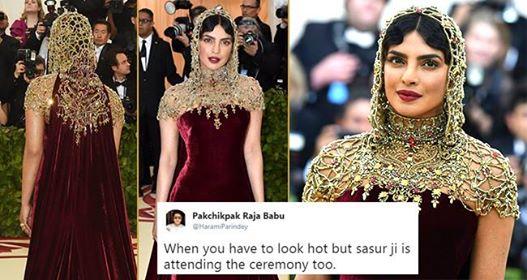 Priyanka Chopra's MET 2018 Look Has Stormed the Internet; Twitter is full of Sanskari Memes