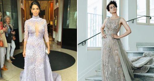 Pics: Mallika Sherawat impresses and Kangana Ranaut creates magic for Cannes 2018