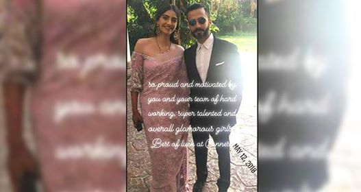 Pics: Sonam Kapoor Ahuja leaves for Cannes, Anand Ahuja posts a picture wishing good luck to wife