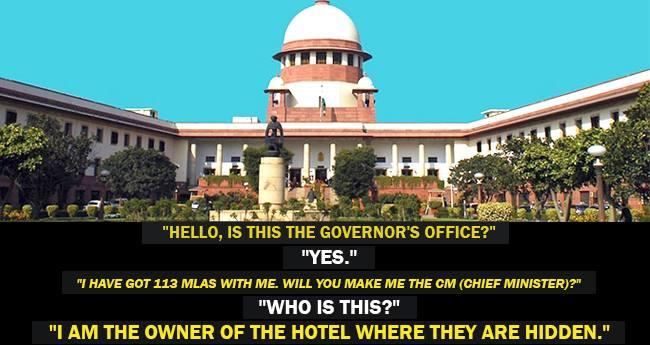 Jokes On Karnataka Has Now Reached The Apex Court, Twitter Has Hilarious Take On This