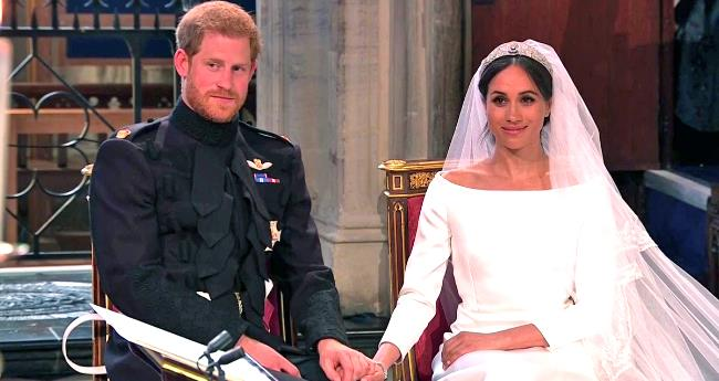 Pics And Videos: Prince Harry And Meghan Markle Take Wedding Vows