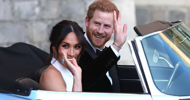 Pics: Prince Harry And Meghan Markle Looks Every Bit Royal At The Wedding Reception