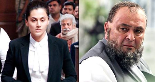 'Mulk' a courtroom drama representing Rishi Kapoor-Taapsee Pannu's looks intense