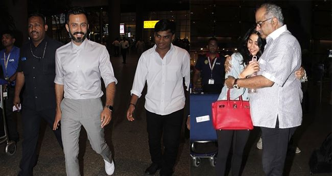 Pics: Janhvi Kapoor finds comfort in daddy's arms; Sonam's blushing moment