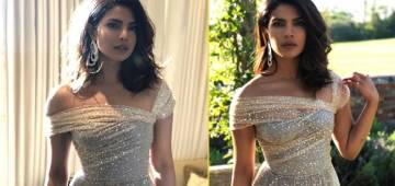 Pics: Priyanka Chopra's Rocks In A Glittery Gown At Prince Harry And Meghan's Reception