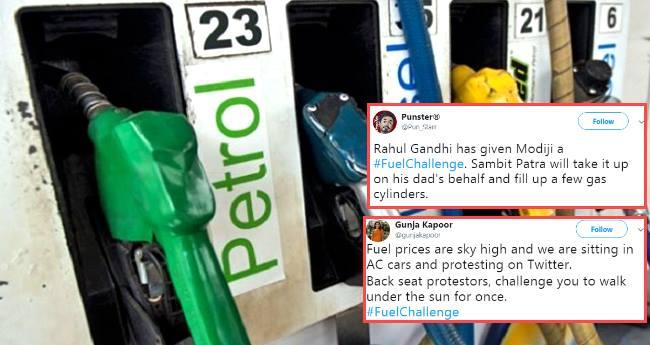 Tweeps go berserk with fuel hike problems, Fuel Challenge has taken Twitter by storm