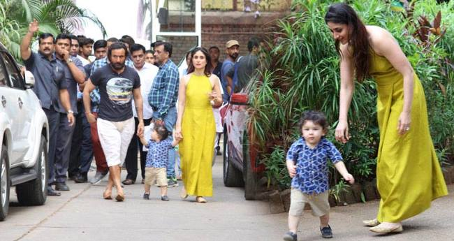 It Is The Surprise Visit Of Taimur Ali Khan That Make Mumma Kareena Blush