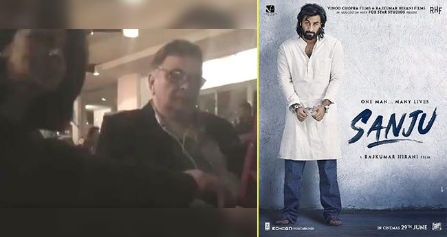 Video: Rishi Kapoor Takes A Funny Dig At Son Ranbir's Sanju Teaser Which Is Unmissable