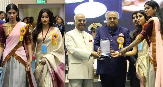 National Film Awards 2018: Janhvi And Khushi Looks Exactly Like Sridevi In Beautiful Sarees