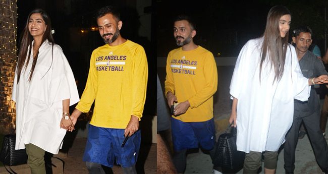 Pics: Sonam-Anand spotted in uber cool avatars spending time together