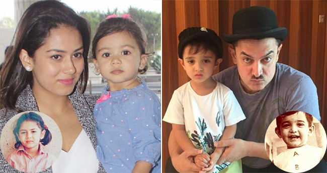 10 celebrity kids who resemble their parents' childhood images
