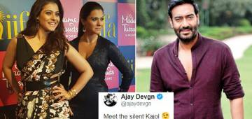 Ajay Devgn introduces Silent Kajol To Buffs; Social Media Laughing On His Funniest Remark
