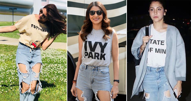 Boyfriend jeans offers Anushka Sharma a comfy and perfect summer look