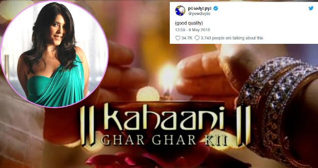 Swedish YouTuber 'PewDiePie' Watches Ekta Kapoor's Balaji Daily Soap And Twitterati Finds It Hilarious
