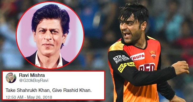 IPL 2018: After Afgan President's Tweet, Twitter has hilarious exchangeoffer for Rashid Khan