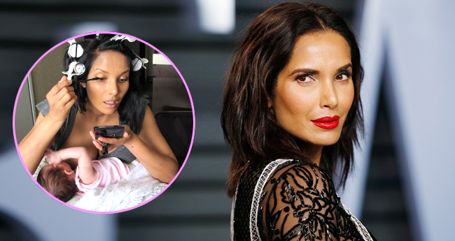 Padma Lakshmi Posted A Throwback Picture On Mother's Day And Seems She Is Multitasking Mom