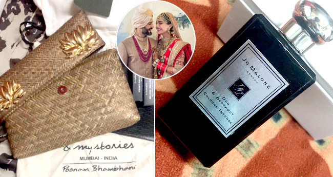 Mehndi Ceremony Return Gifts : Sonam and anand gave customized return gifts to all the guests