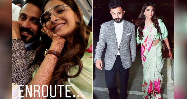 Sonam Kapoor Took Off For Cannes With Hubby Anand And We Have Pics From Inside The Flight