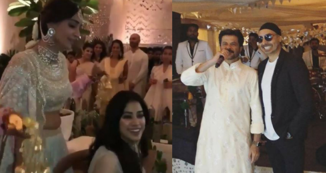 Pics And Videos: While Sonam Enjoys Her Kaleera Ceremony, Dad Anil Can't Stop Doing Bhangra