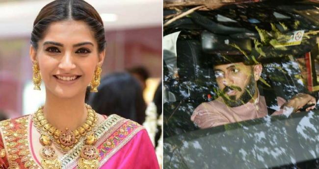 Pics And Video: Anand Ahuja Arrives At Sonam's House For Pre-Wedding Functions