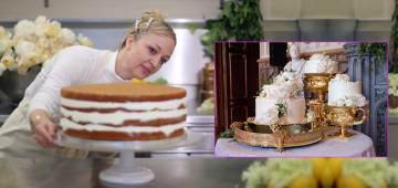 Pics: The royal wedding cake especially made for the newlyweds is just too beautiful for words