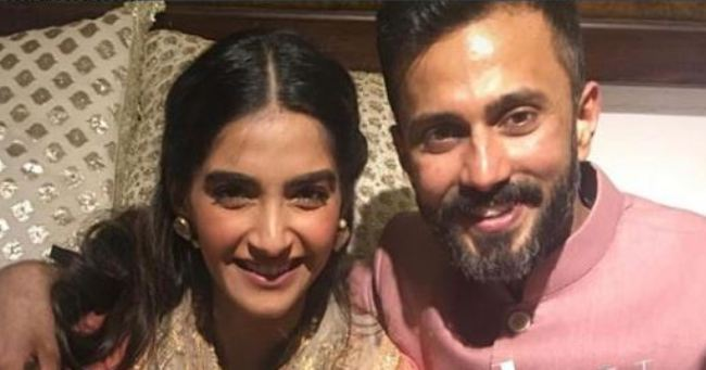 First Pics Of Sonam And Anand As They Happily Pose Together During The Celebrations