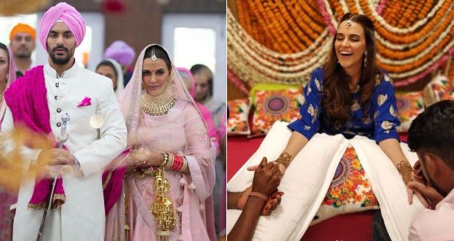 Pics: Angad Bedi and Neha Dhupia's Mehendi Ceremony is a bag full of memories