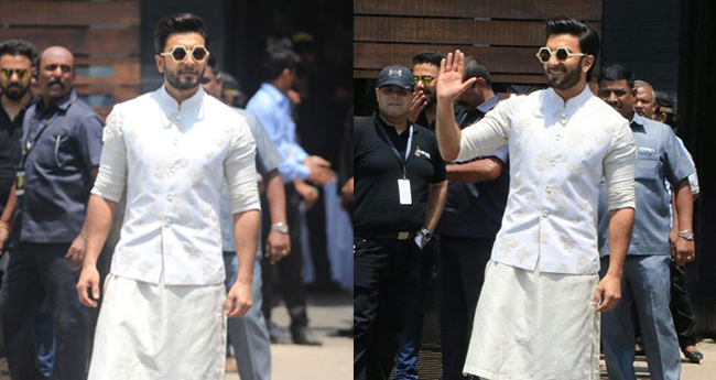 Ranveer Singh attends cousin Sonam Kapoor's wedding without Deepika Padukone