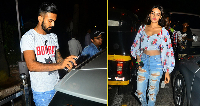 Cricketer KL Rahul and actress Nidhhi Agerwal captured spending time together in Mumbai
