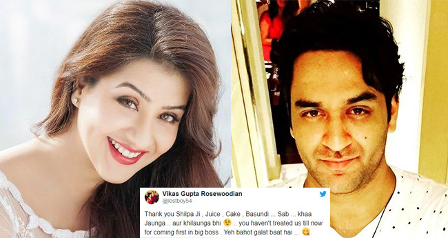 Big Boss 11 contestant Shilpa Shinde wishes her rival from the show 'Vikas Gupta' on his birthday
