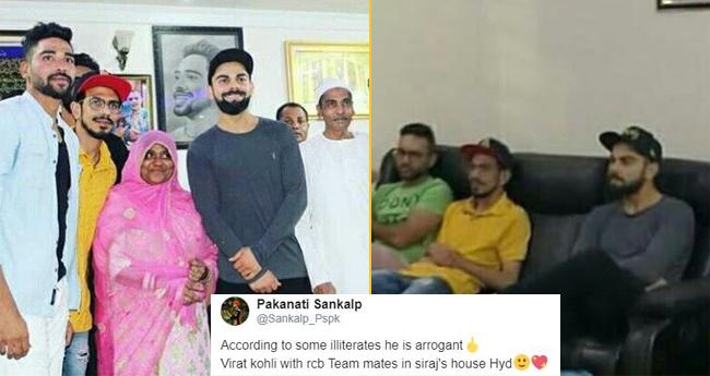 Pics: Virat Kohli enjoys dinner with team members at Mohammed Siraj's house