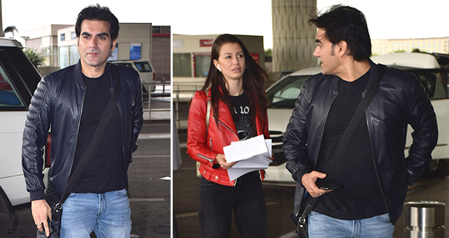 Arbaaz Khan and Georgia leave for a secret holiday; entered Mumbai airport