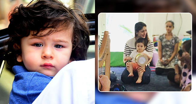 Pic: Taimur is enjoying every bit of his Playschool time with Mommy Kareena