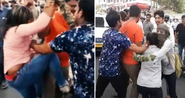 Video: This time not guys but 2 girls fighting on the road disrupts the traffic