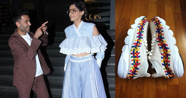 Pics: Sonam's Hubby Anand Ahuja's Rainbow Sneakers Is Talk Of The Town
